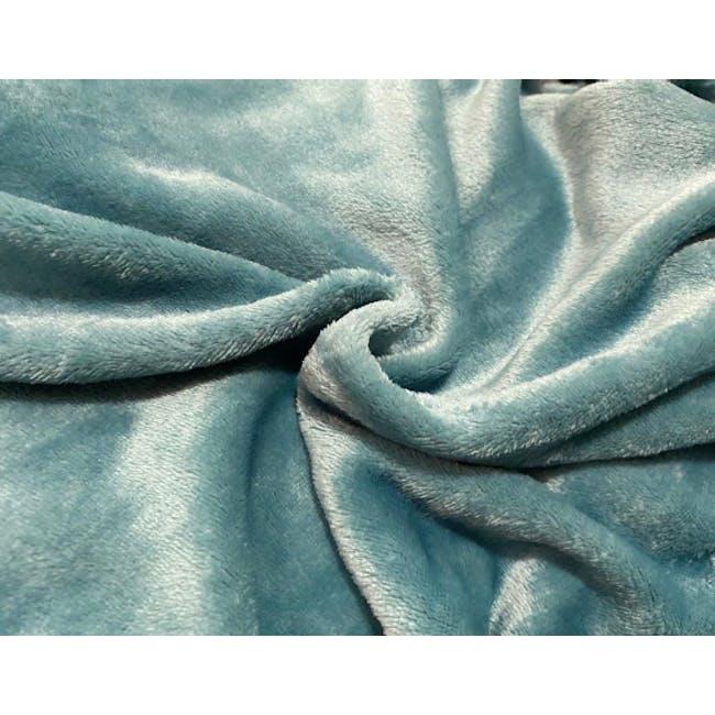 Marlow Velvet Plush Blanket - Teal Blue - 2