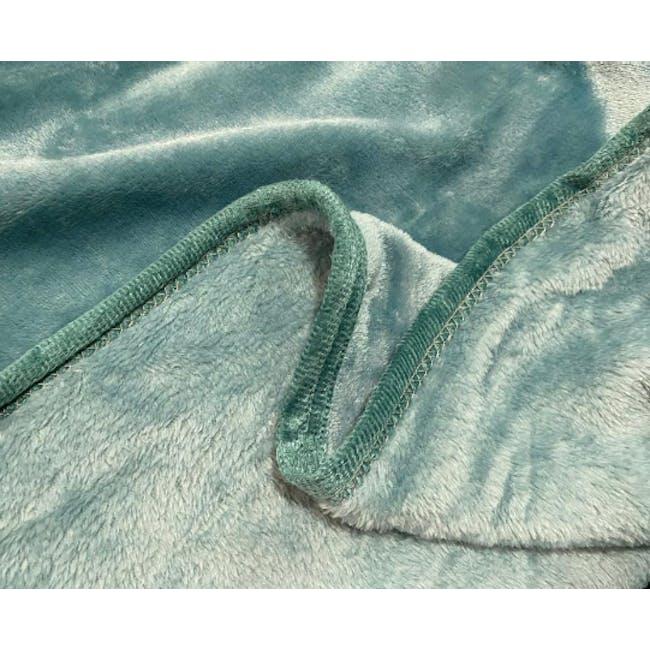 Marlow Velvet Plush Blanket - Teal Blue - 1