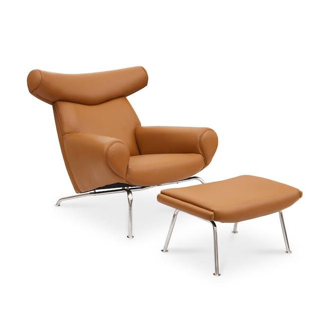 Ox Chair with Ottoman Replica - Tan (Genuine Cowhide) - 0