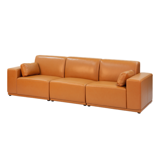 Premium Sofas By Hipvan Milan 3 Seater Sofa Tan Leather Hipvan