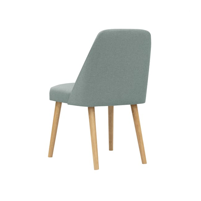 Roden Dining Table 1.8m in Natural with 4 Miranda Chairs in Sea Green and Pink - 9