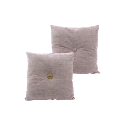 Distintivo Square Cushion - Misty Rose, Down Feathers (Domett Fabric) - Image 2