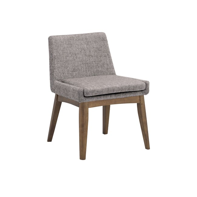 Clarkson Dining Table 2.2m in Cocoa with 4 Fabian Chairs in Cocoa, Dolphin Grey - 7