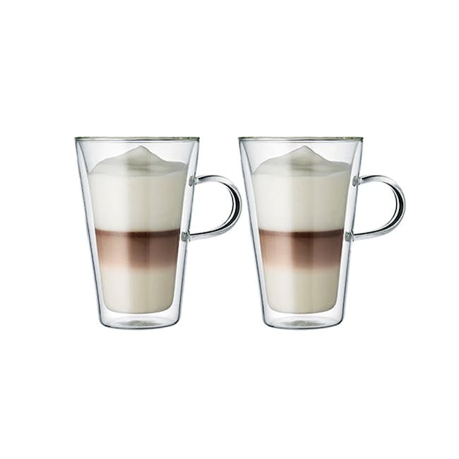 CANTEEN Double Wall Glass with handle 0.4L (Set of 2) - 1