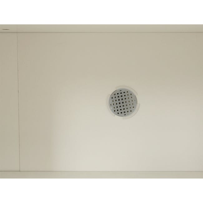 Miga Tall Shoe Cabinet - White, Natural - 7