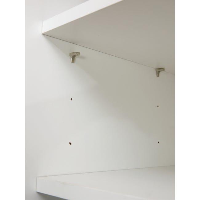 Miga Tall Shoe Cabinet - White, Natural - 8