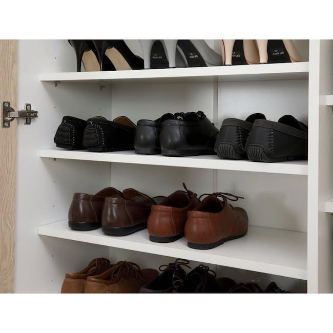 Miga Tall Shoe Cabinet - White, Natural - 2