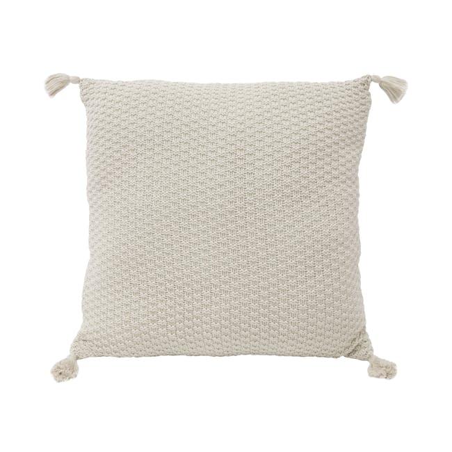 Laura Knitted Cushion Cover - Cream - 0