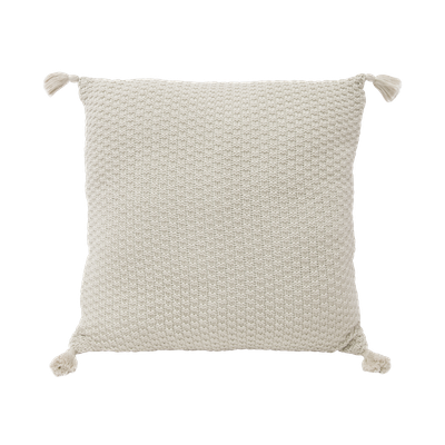 Camila Knitted Cushion - Cream - Image 1