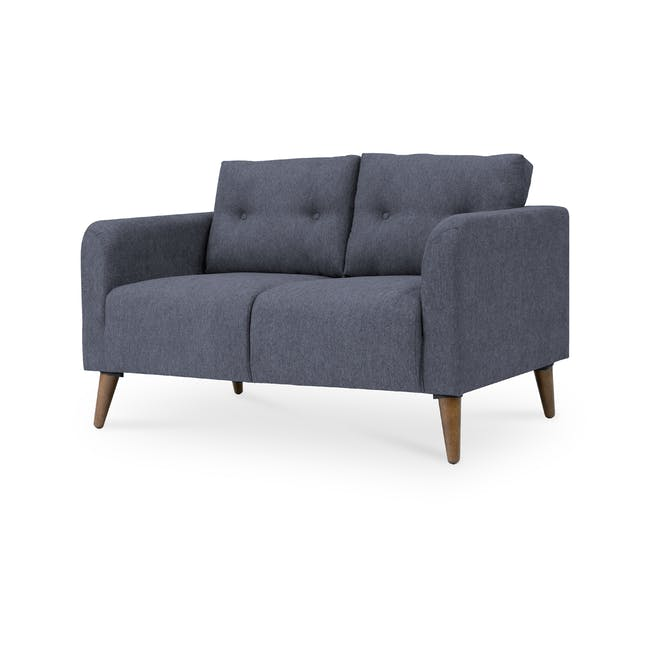 Bennett 2 Seater Sofa with Bennett Armchair - Midnight - 2