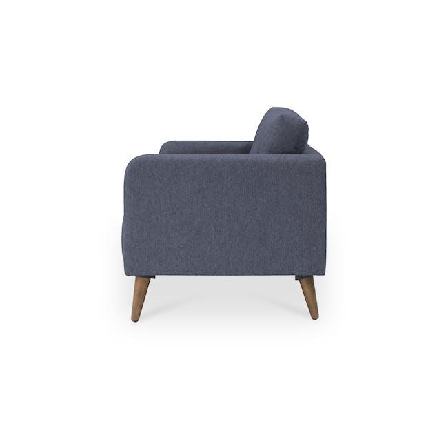 Bennett 2 Seater Sofa with Bennett Armchair - Midnight - 3