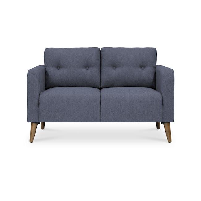Bennett 3 Seater Sofa with Bennett 2 Seater Sofa - Midnight - 6
