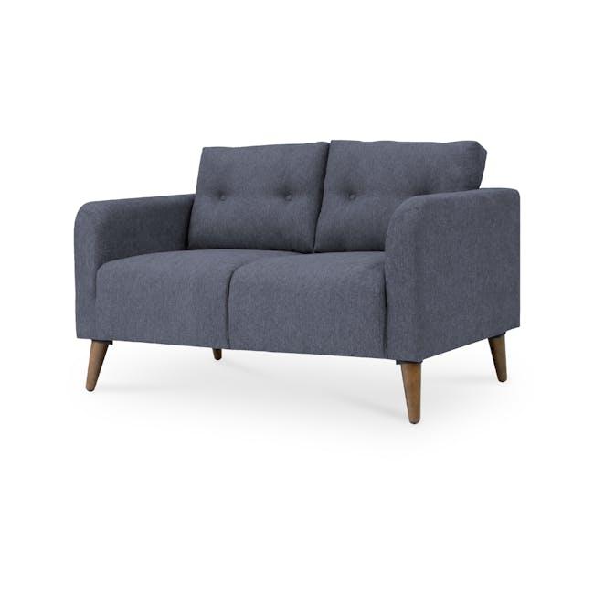 Bennett 3 Seater Sofa with Bennett 2 Seater Sofa - Midnight - 7