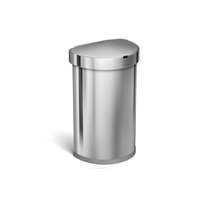 simplehuman Semi-Round Sensor Bin 45L - Silver - 0
