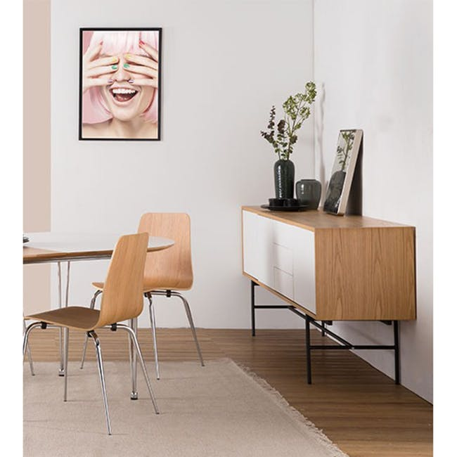 Bacchus Sideboard 2m - Oak, White - 2