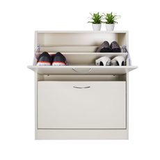 Doris 2 Tier Shoe Cabinet - Cream