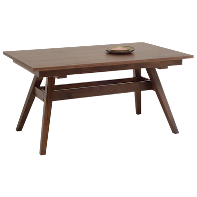 Valko 6 Seater Dining Table - Walnut - Image 2