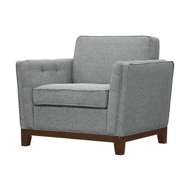 Byron 3 Seater Sofa with Byron Armchair - Siberian Grey - 10