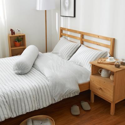 (King) Cotton Pure 6-pc Bedding Set - Menatee Grey - Image 2