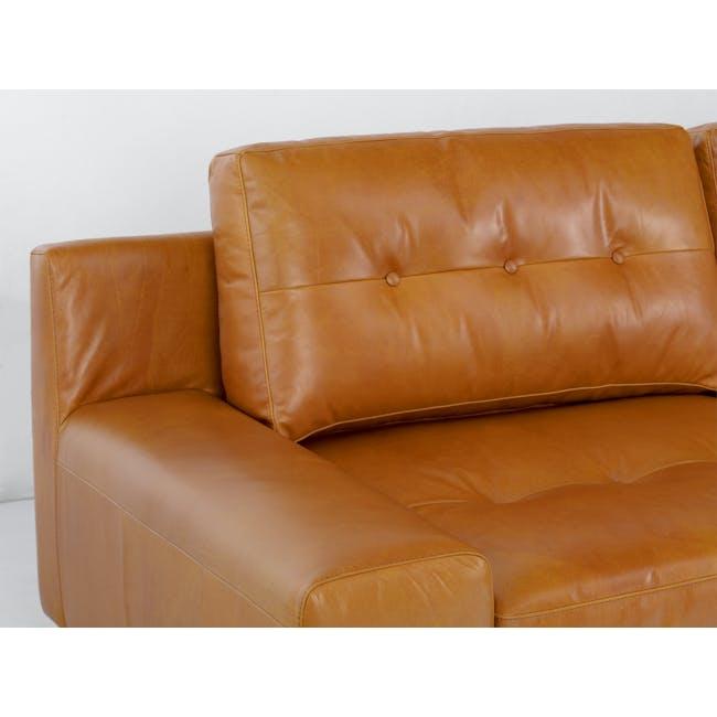 Wyatt L-Shaped Sofa - Butterscotch (Premium Waxed Leather) - 1