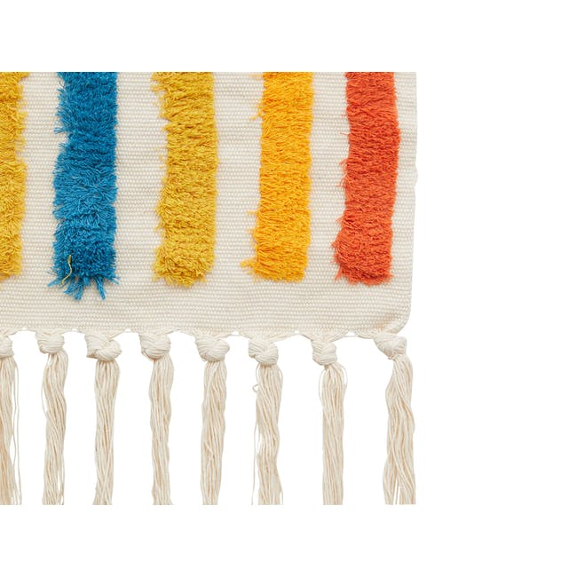 Nordic Tapestry with Tassle - Rainbow - 4