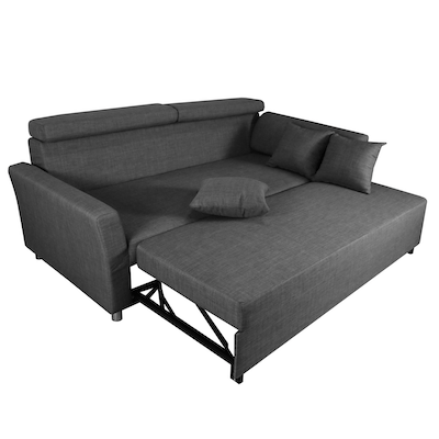 Bowen 3 Seater Sofa Bed - Grey - Image 2