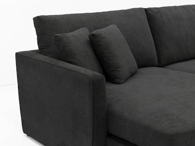 Ashley L Shape Sofa - Granite - Image 2