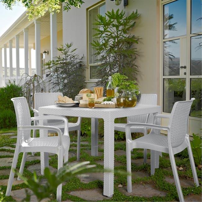 Quartet Outdoor Table - White - 1