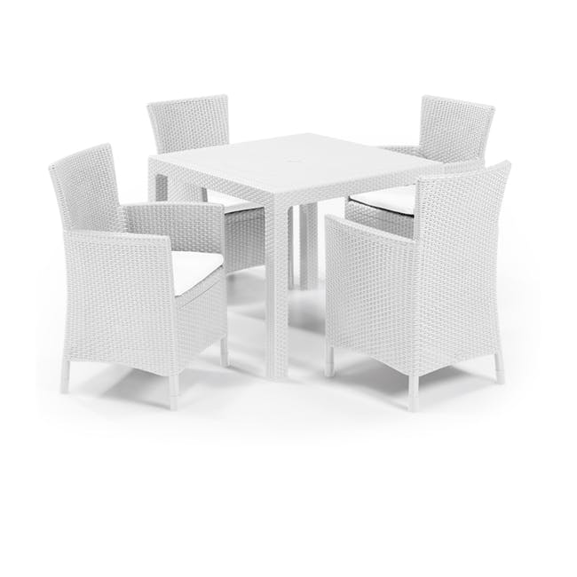 Quartet Outdoor Table - White - 4