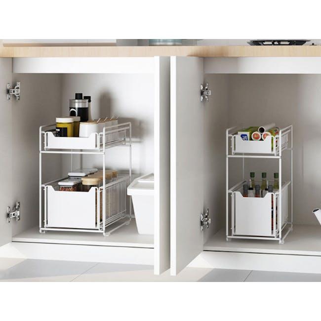 Tori Kitchen Organiser Slim - White - 1