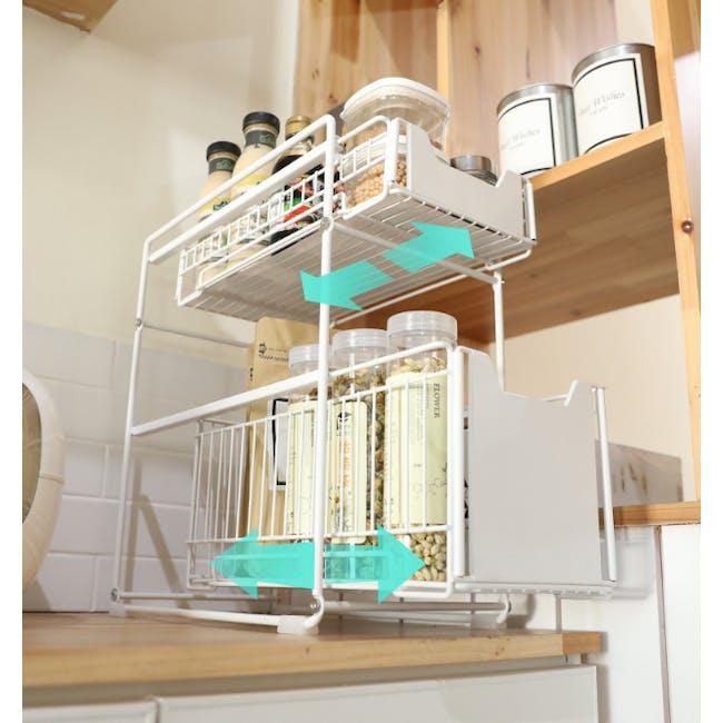 Tori Kitchen Organiser Slim - White - 3