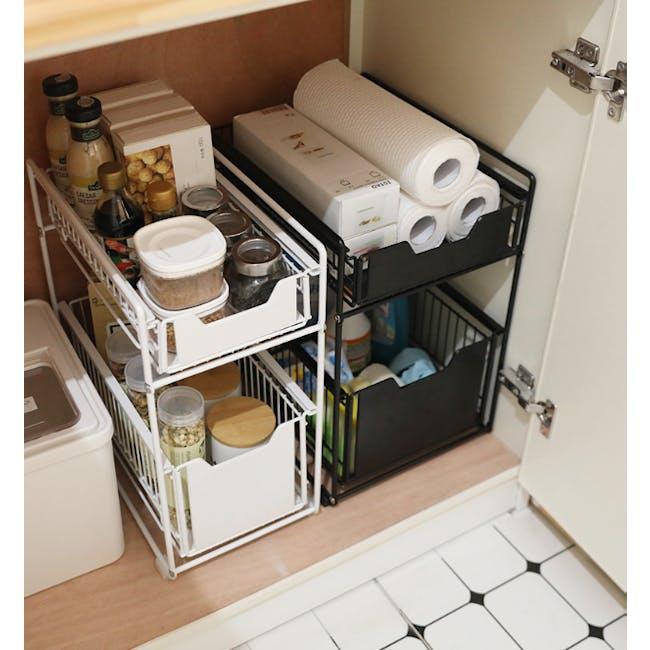 Tori Kitchen Organiser Slim - White - 2