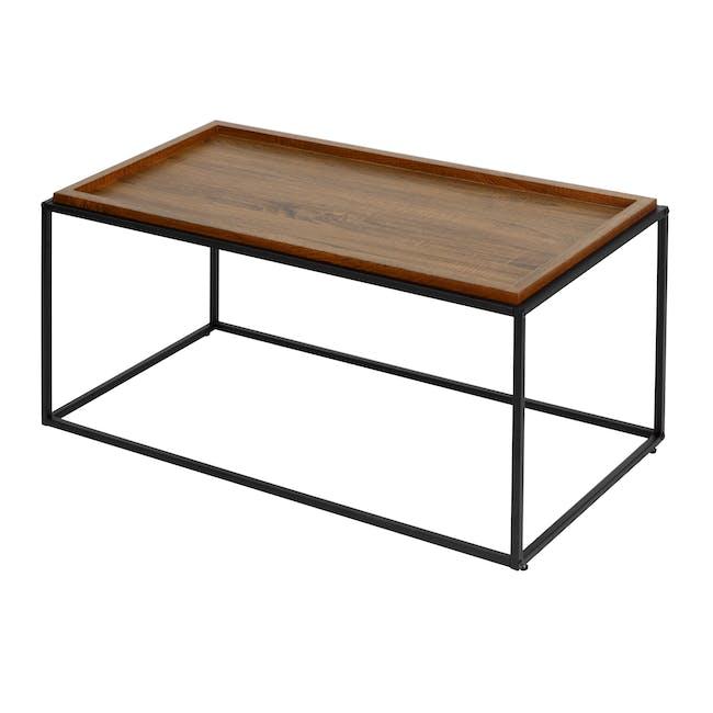Dana Rectangle Coffee Table 1m - Walnut - 1