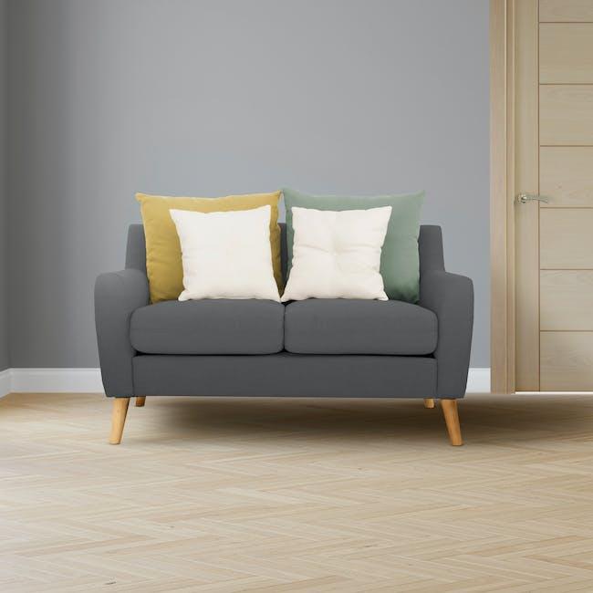 Evan 2 Seater Sofa - Charcoal Grey - 1