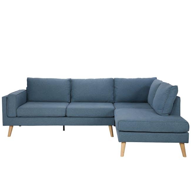 Paige L-Shaped Corner Sofa - Blue - 0