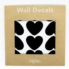 Peaches Heart Wall Decal (Pack of 60) - Black