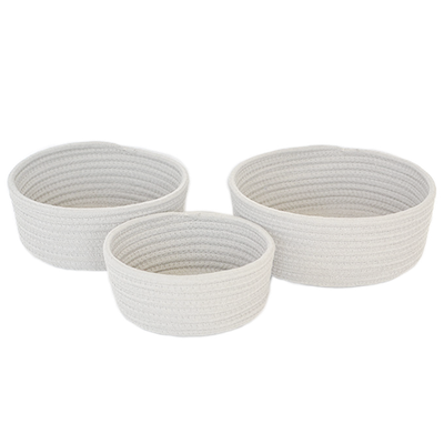 Celine Cotton Rope Storage - White (Set of 3) - Image 1