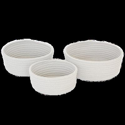 Celine Cotton Rope Storage - White (Set of 3) - Image 2