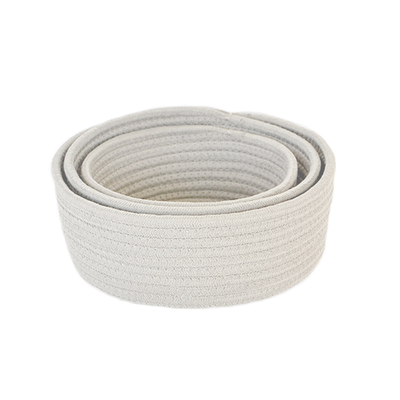 Celine Cotton Rope Storage - White (Set of 3) - Image 2