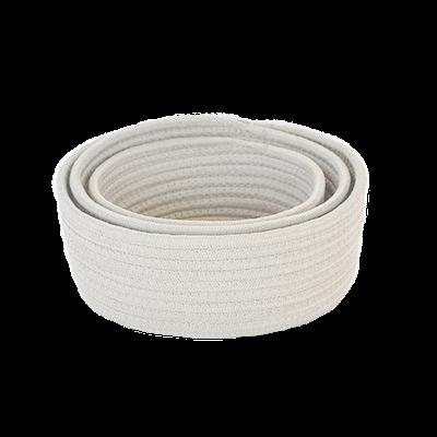 Celine Cotton Rope Storage - White (Set of 3) - Image 1