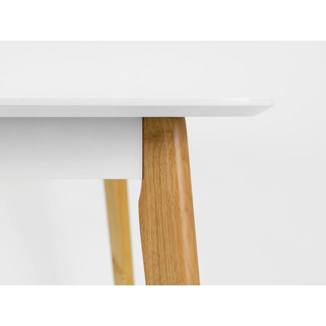 (As-is) Harold Dining Table 1.5m - Natural, White - 56 - 9