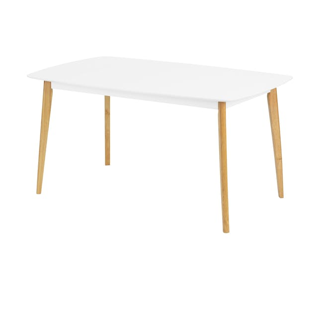 (As-is) Harold Dining Table 1.5m - Natural, White - 56 - 10