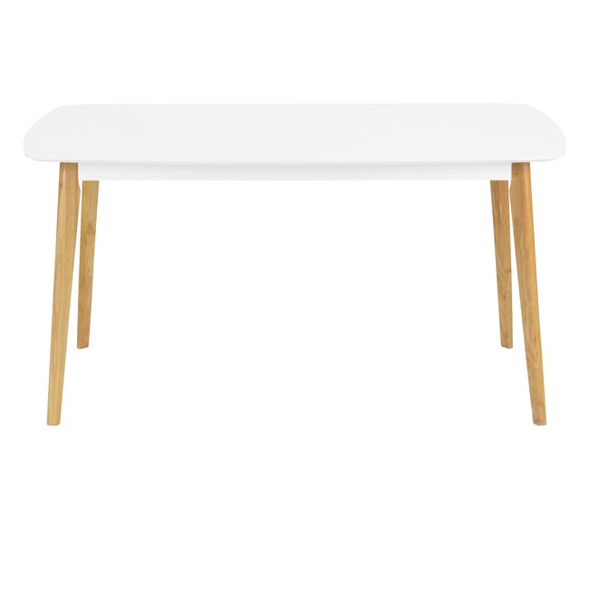 (As-is) Harold Dining Table 1.5m - Natural, White - 56 - 11
