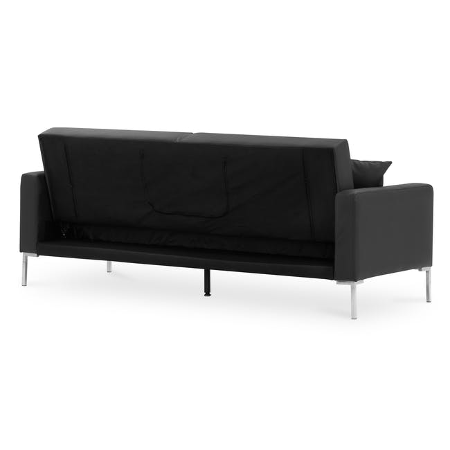 Leslie Sofa Bed - Slate Grey (Faux Leather) - 3