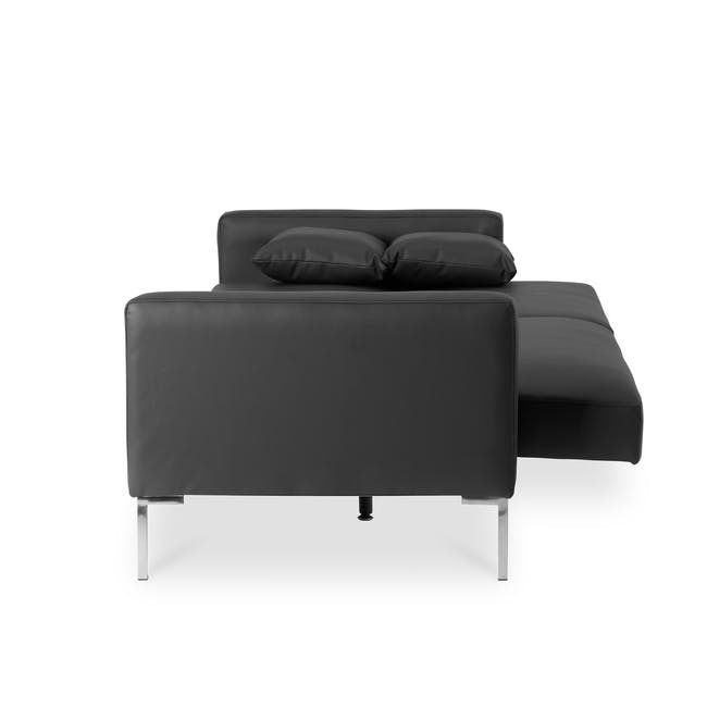 Leslie Sofa Bed - Slate Grey (Faux Leather) - 5