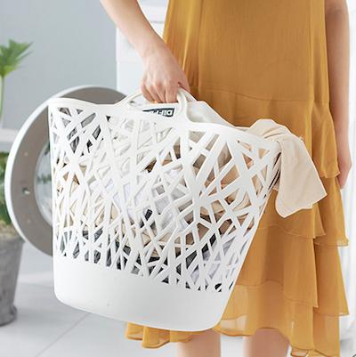 Layla Laundry Basket - Blue Grey - Image 2
