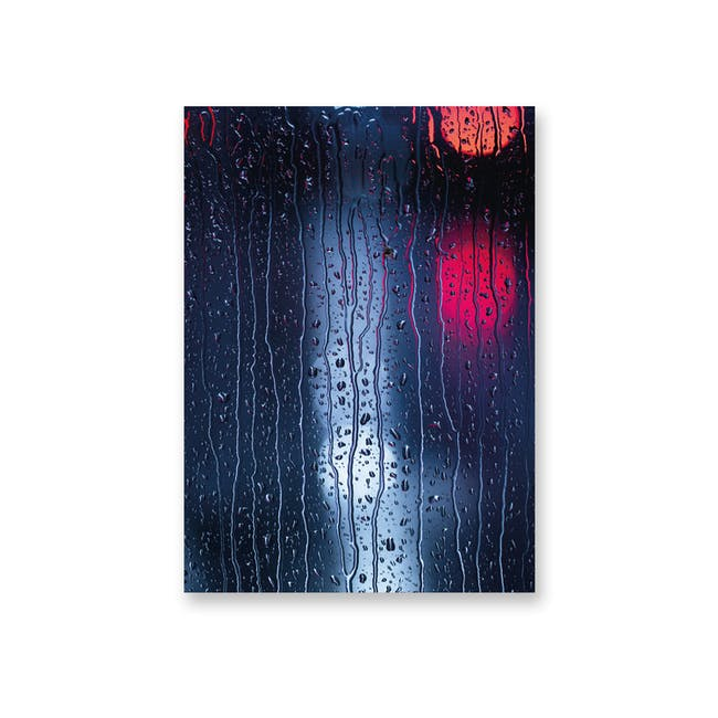 Borderless Minimalist Art Print on Paper (2 Sizes) - Rainy Night - 0
