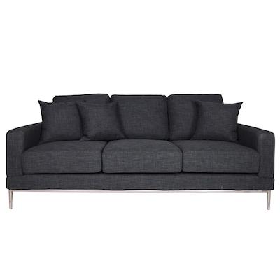 Norman 3 Seater Sofa - Grey - Image 1