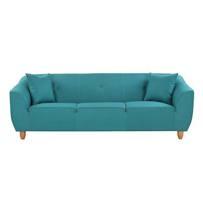 Cozy 3 Seater Sofa - Bright Light Blue - Image 1