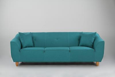 Cozy 3 Seater Sofa - Bright Light Blue